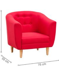 ghế bành amelia đỏ hồng