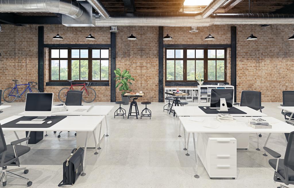 thiết kế thi công văn phòng theo modern loft interior