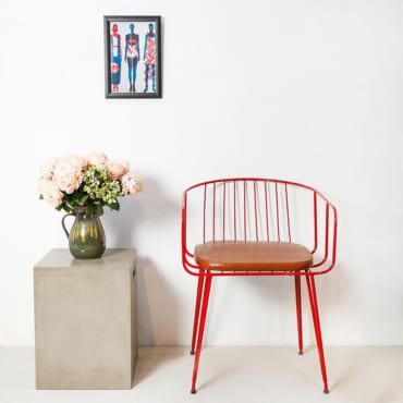 Ghế sắt Poppy red