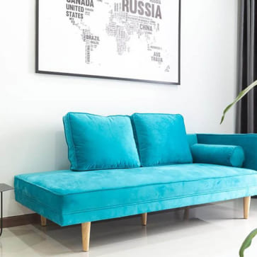 monroe daybed blue