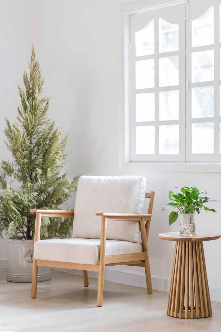 ghế bành gỗ sồi TAKA