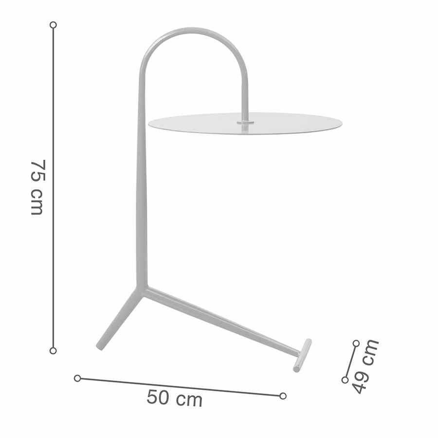 Kích thước bàn góc DROOPY White