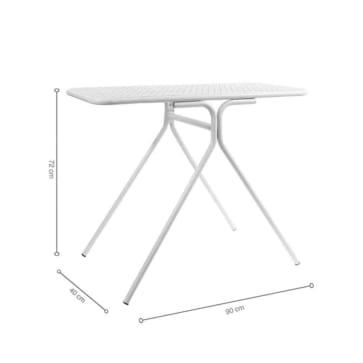 Kích thước bàn ban công KLARNA White