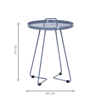 Kích thước bàn CANE D400 Grey