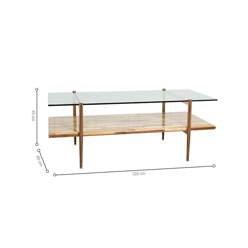 Bàn cafe BALIAN rộng, 2 mặt bàn kích thước bằng nhau, tối ưu diện tích và công năng sử dụng cho không gian sinh hoạt chung.