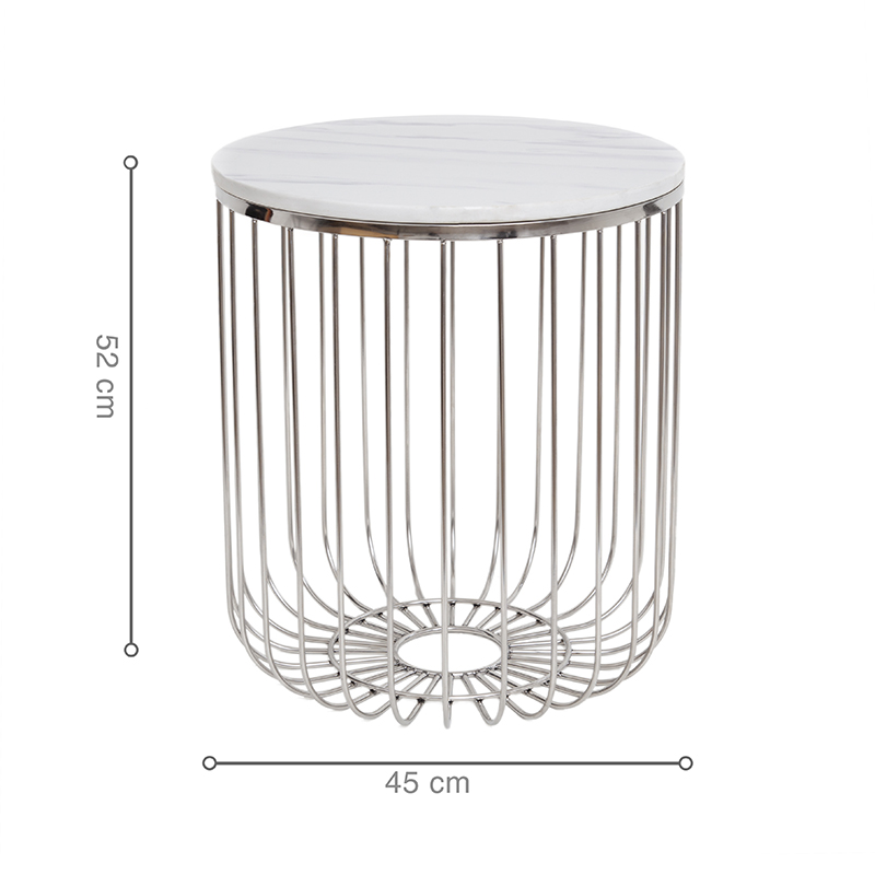 Kích thước bàn nhỏ gọn, tiện lợi di chuyển và đặt ở nhiều vị trí trong không gian sống.