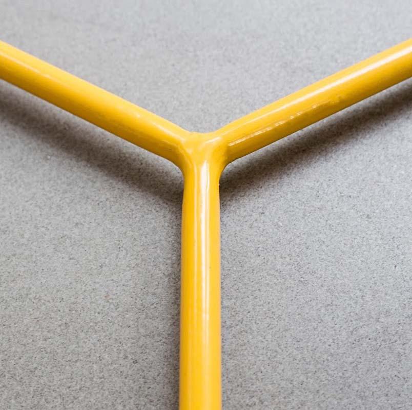 Mối nối chân bàn góc HEXAGON Yellow