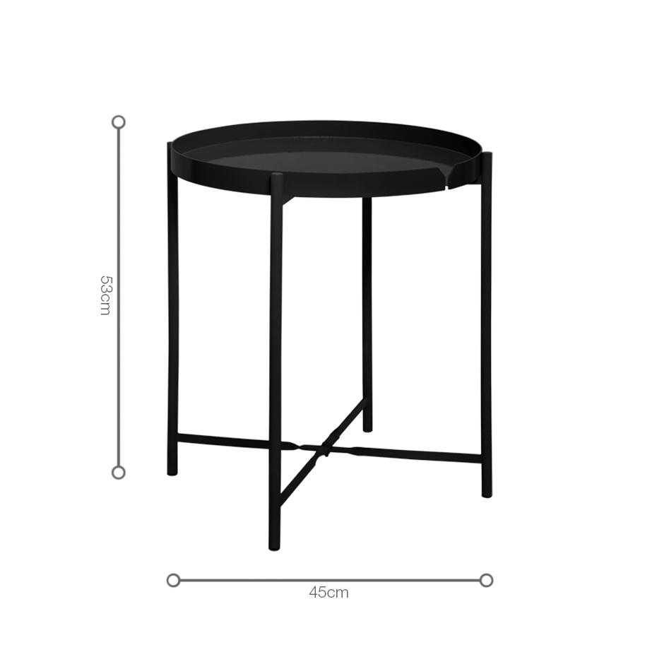 Kích thước bàn xếp CANNES Black nhỏ gọn, tiện lợi, đặt được ở mọi góc không gian có diện tích khác nhau.
