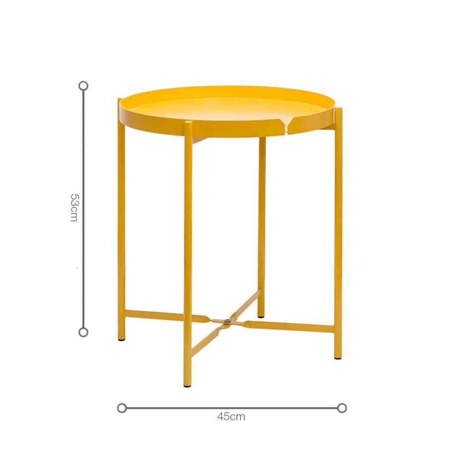 Kích thước bàn CANNES nhỏ gọn, kiểu dáng hiện đại thông minh, có thể gập lại và đặt ở nhiều vị trí có diện tích không gian khác nhau.