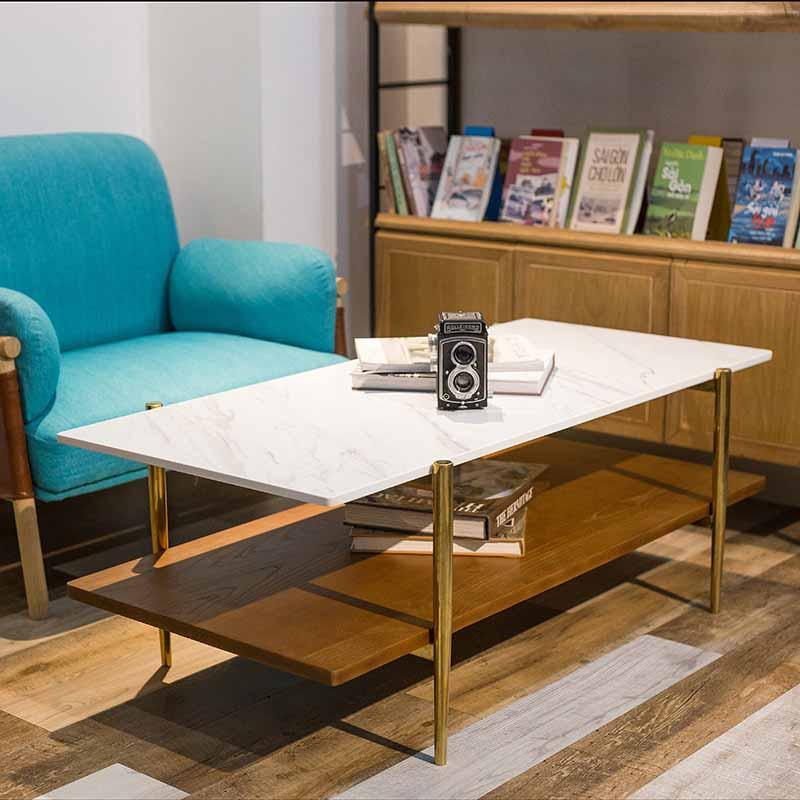 Bàn cafe BALIAN kiểu dáng 2 tầng độc đáo, tối đa hóa công năng, tiết kiệm diện tích sàn.