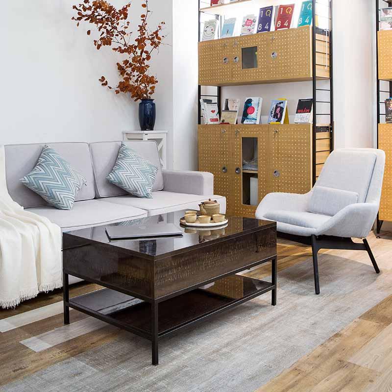 Toàn bộ bàn được làm từ ván An Cường MDF có độ bền và thẩm mỹ cao cùng khung chân sắt chắc chắn. Bàn rất phù hợp cho không gian hiện đại, sang trọng.