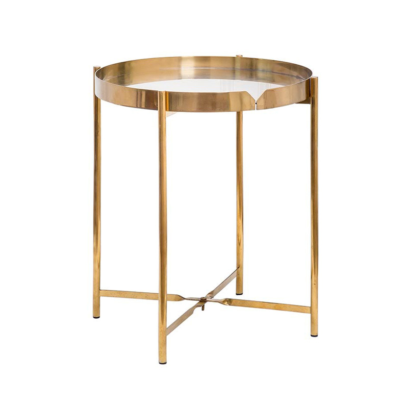 Thiết kế đơn giản, hiện đại lại vô cùng tiện lợi vì có thể tháo lắp dễ dàng, bàn góc xếp gọn CANNES Gold chính là điểm nhấn độc đáo cho không gian của bạn.