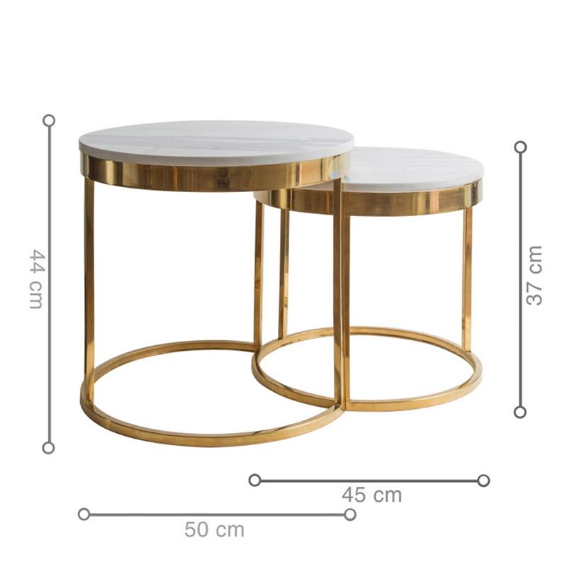 Kích thước bàn HOOPER Gold