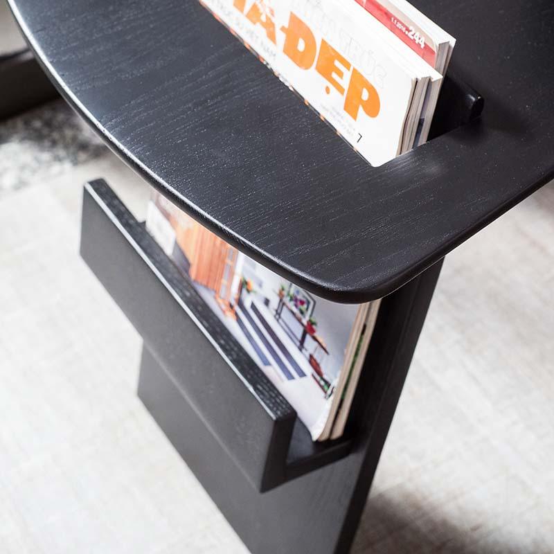 Mặt bàn góc RISOM được bo góc và vát cạnh bóng loáng, tăng thẩm mỹ và an toàn cho người dùng.