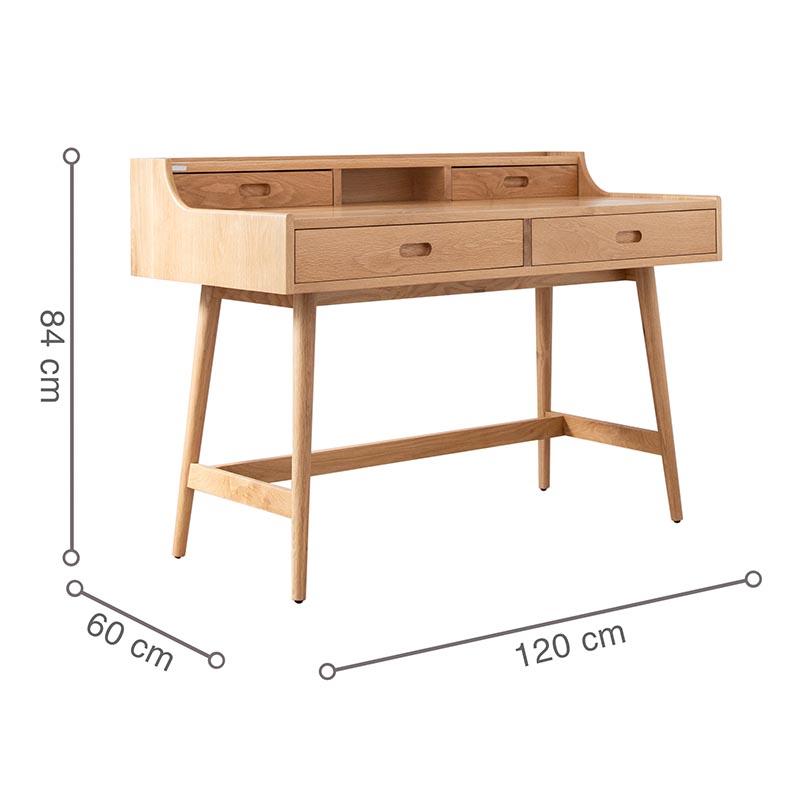 Kích thước bàn phù hợp và tiện lợi cho người ngồi được thoải mái nhất.