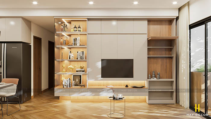thiết kế phòng khách thông minh