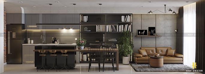 Thiết kế phòng khách theo phong cách chiết trung