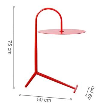 Kích thước bàn góc DROOPY Red