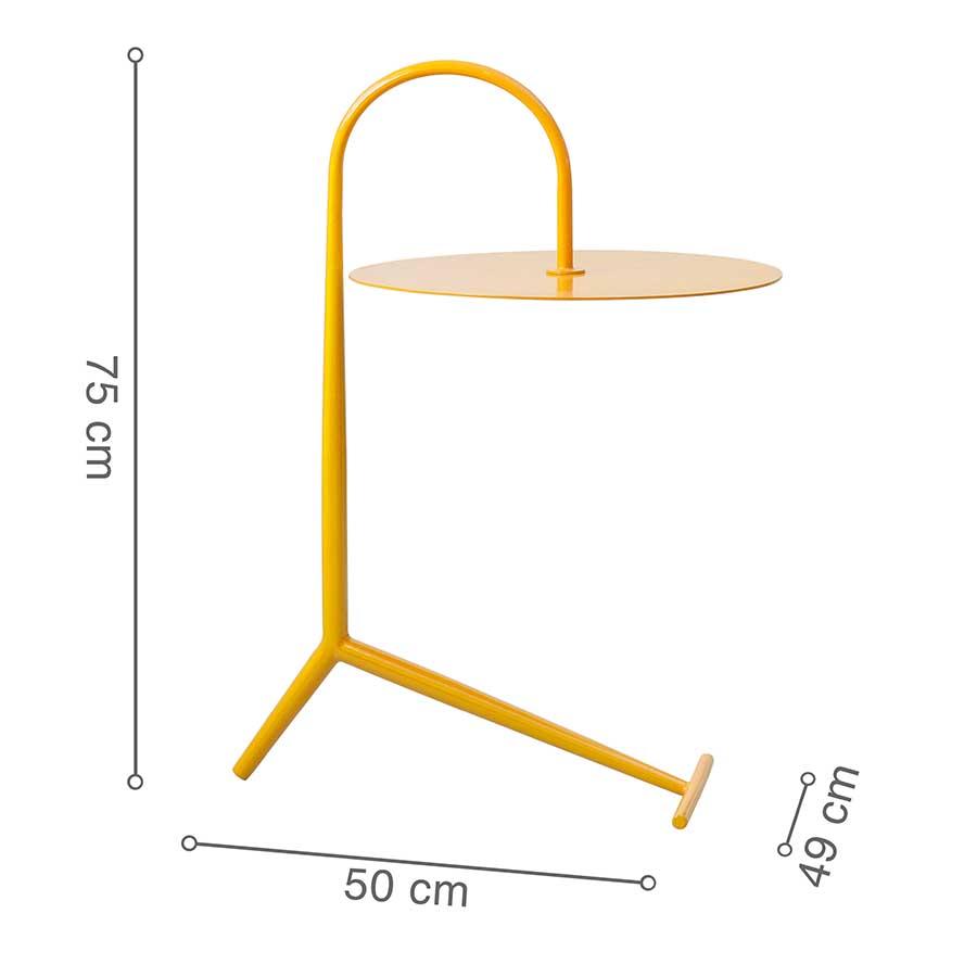 Kích thước bàn nhỏ gọn, dễ dàng di chuyển, đặt ở nhiều nơi.