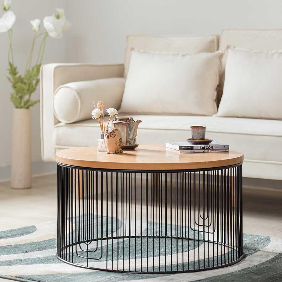 Bàn trà RUM từ vật liệu gỗ sồi, thích hợp trong thiết kế hiện đại.