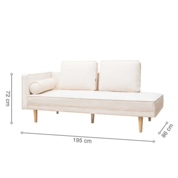 sofa MONROE DAYBED white