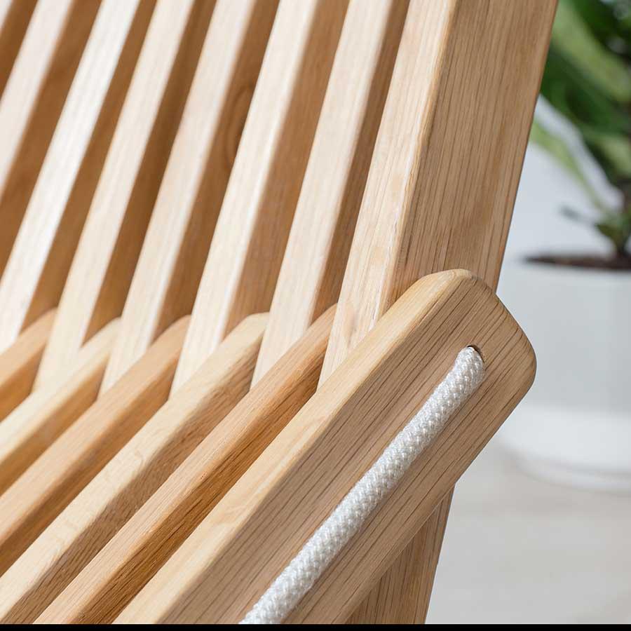 ghế xếp kentucky gỗ sồi