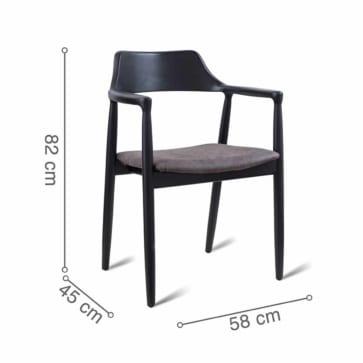 ghế ăn PRAHA đen