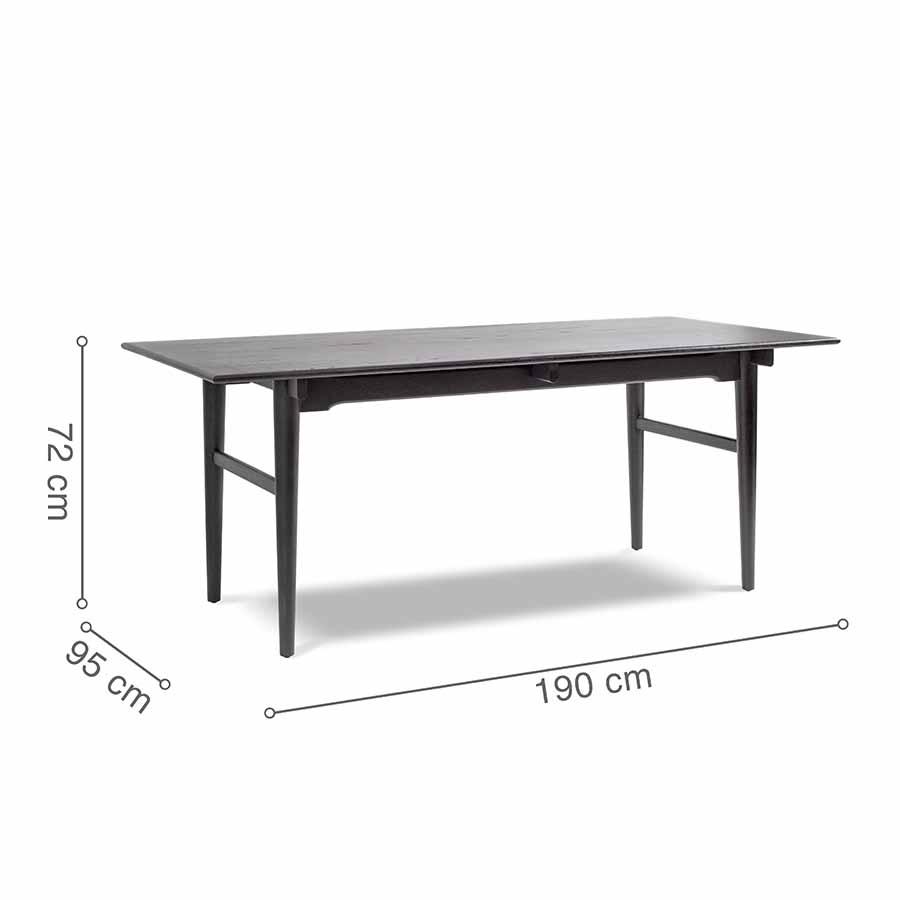 kích thước bàn ăn CH327 Black