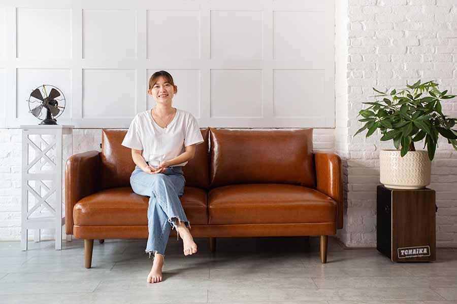 Ghế sofa AUBURN Cognac