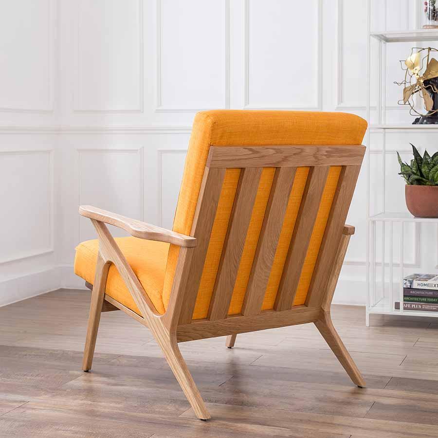 ghế bành khung gỗ sồi