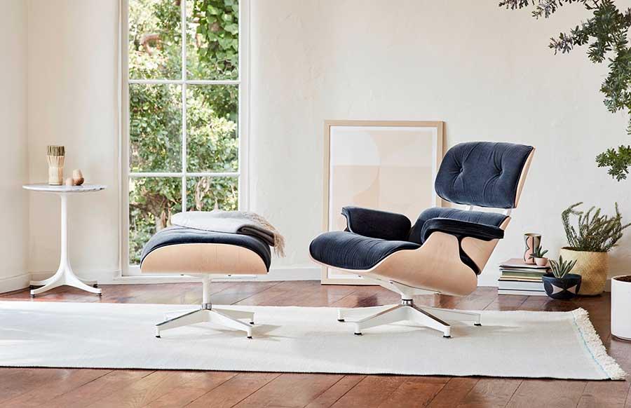 Ngôi nhà đẹp mắt và ấm cúng với ghế Eames Lounge