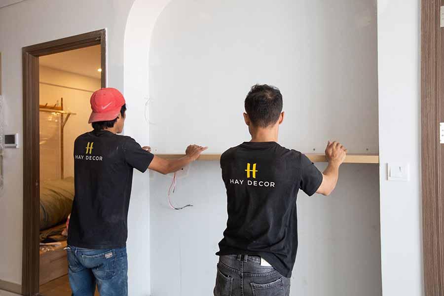 Sản phẩm của HAY được thi công lắp đặt tận nơi nhanh chóng cho khách hàng.
