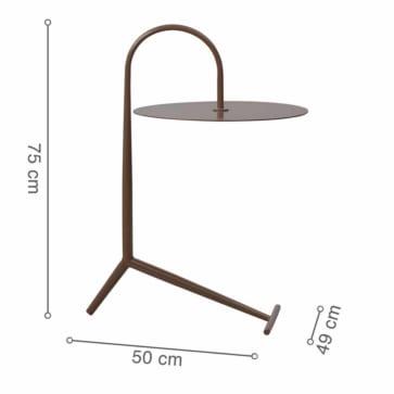 Kích thước bàn góc DROOPY Brown
