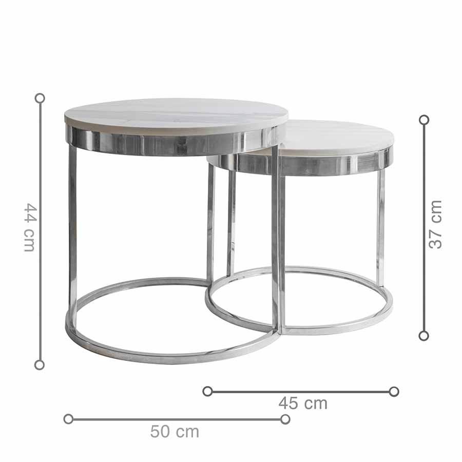 Kích thước bàn cafe HOOPER Silver