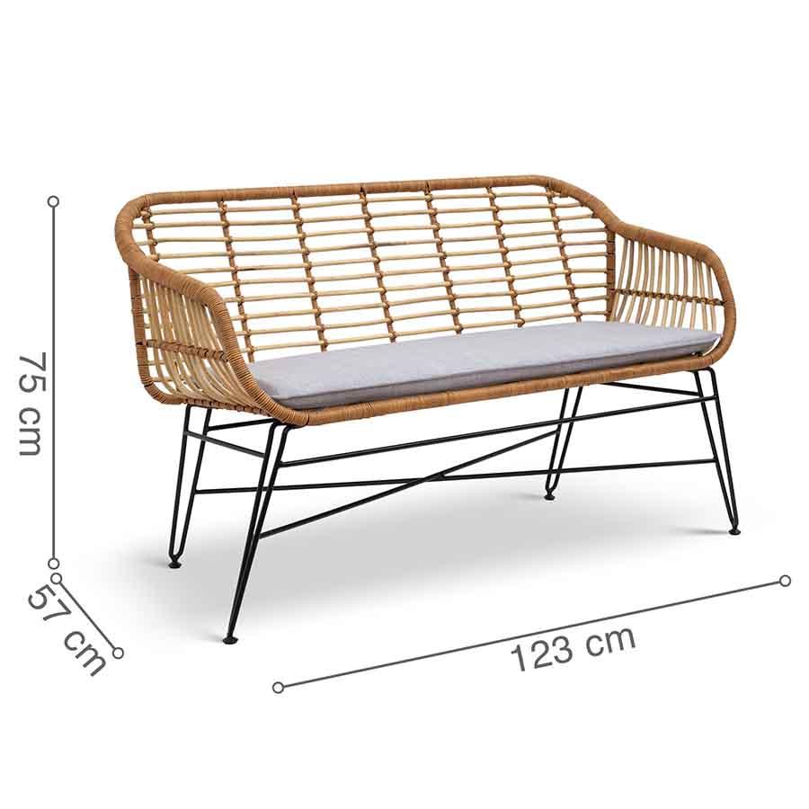 ghế sofa mây đan