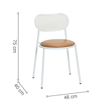 ghế nicholas white