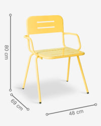 ghế cafe có tay ray yellow