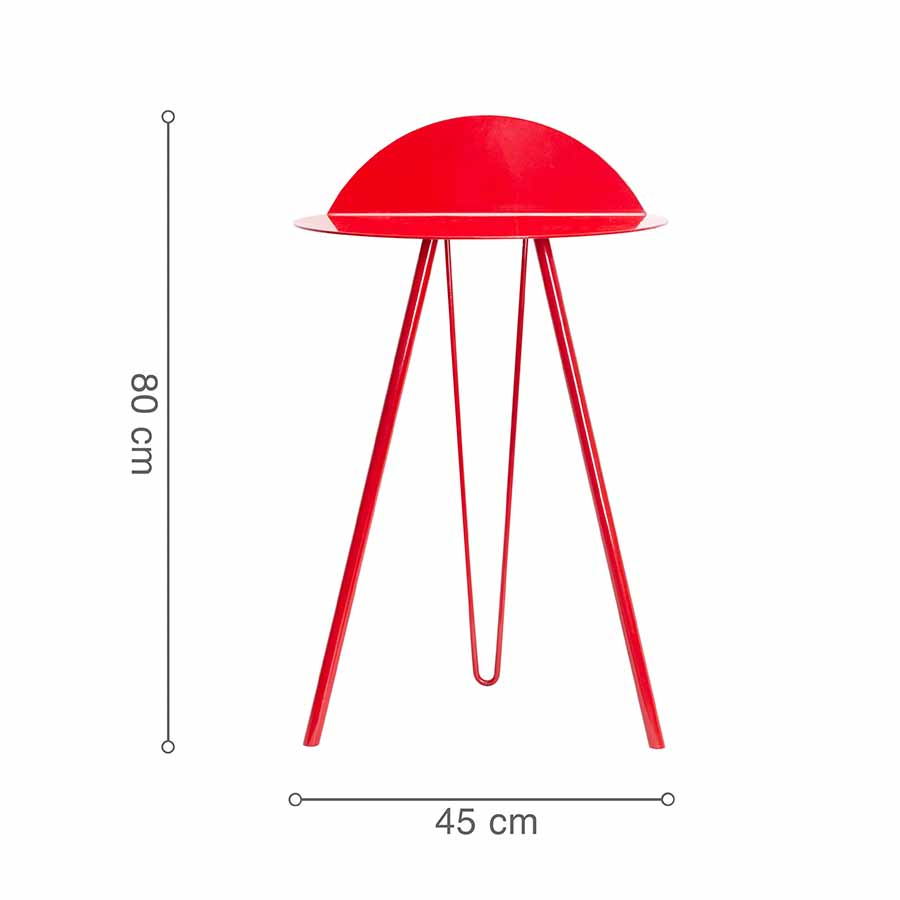 Kích thước bàn dựa tường SHAFT Red