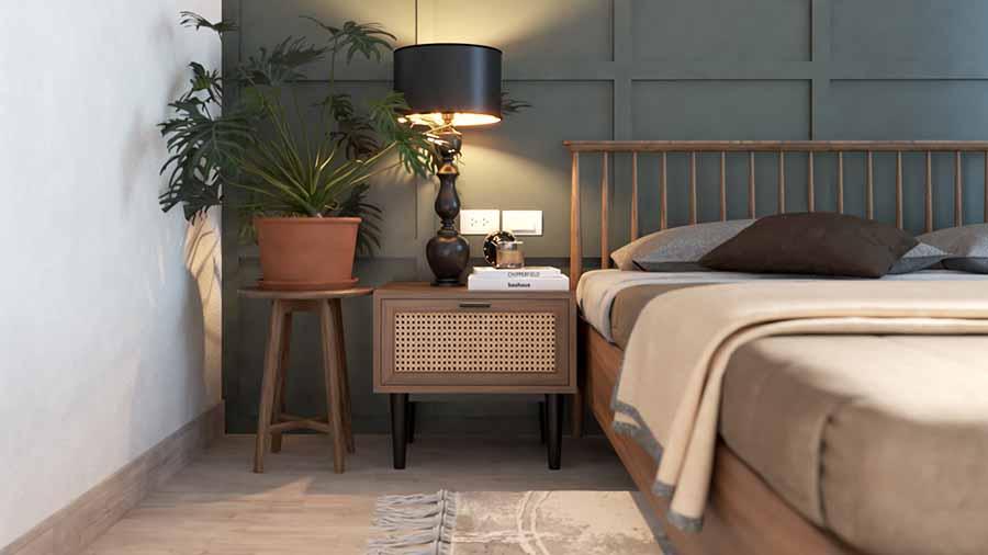 Tủ đầu giường của phòng ngủ căn hộ Vinhome