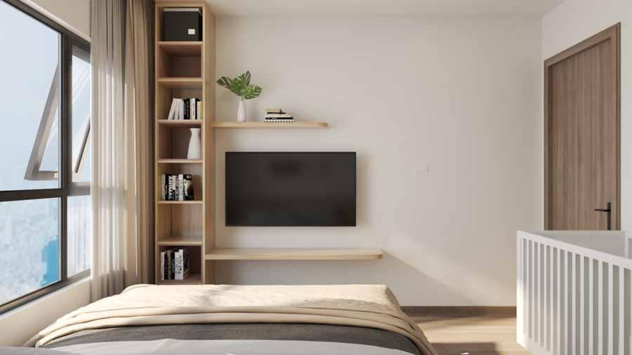 Sử dụng nội thất gọn gàng, thiết kế thông minh cho phòng ngủ