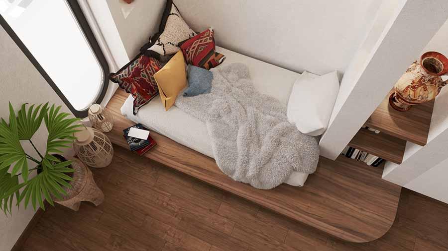 Tạo không gian thư giãn lý tưởng trong phòng ngủ.