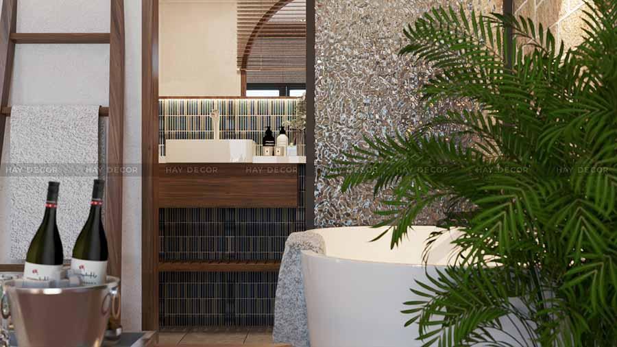 thiết kế phòng tắm phong cách Địa Trung Hải