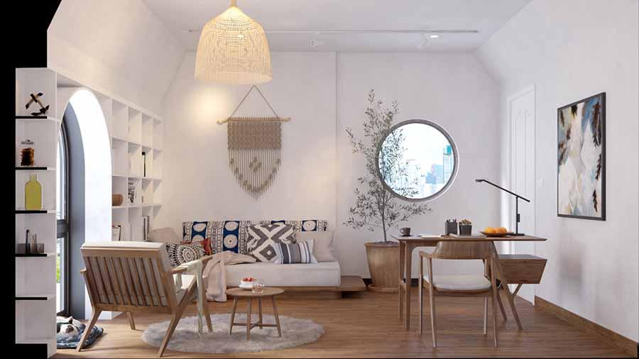 Trang trí nội thất độc đáo, tạo điểm nhấn cho phòng làm việc.