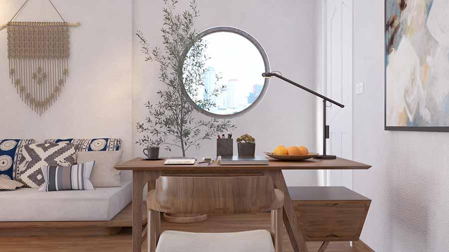 Thiết kế nội thất bàn ghế làm việc thông minh, tiện lợi