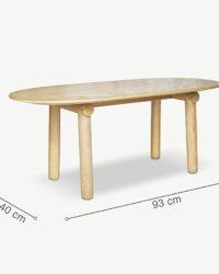 Kích thước bàn cafe EMMA